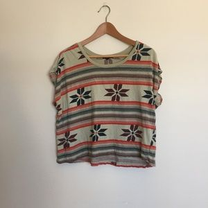 UO Truly Madly Deeply Boxed Striped Tee
